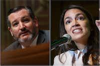 Sen. Ted Cruz and Rep. Alexandria Ocasio-Cortez(Win McNamee/Getty Images and Cliff Owen/AP)