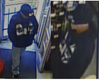 This grainy image shows a man wanted in connection with an aggravated robbery of a Family Dollar Store in West Dallas.(Dallas Police Department)