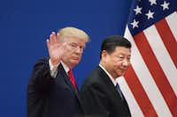 President Donald Trump has urged Chinese President Xi Jinping to cut a deal on trade. But if Beijing does come around, Trump has pledged to impose tariffs on an addition $300 billion in tariffs.(NICOLAS ASFOURI/AFP/Getty Images)