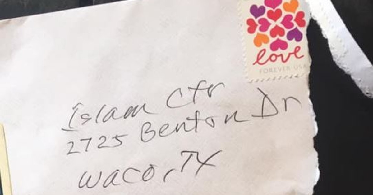 Waco mosque gets hate mail with ironic stamp in response to interfaith dinner...