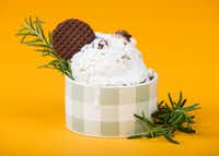 Bacon buttermilk ice cream with rosemary (Ashley Landis/Staff Photographer)