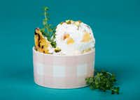 Peach pistachio  ice cream with thyme (Ashley Landis/Staff Photographer)