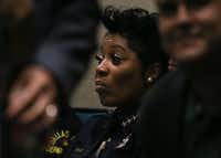 Dallas Police Chief U. Renee Hall attended a City Council meeting last week. She's under increasing pressure to stem the increase in violent crime in the city.(Ryan Michalesko/Staff Photographer)