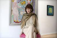 American artist, writer and fashion designer Gloria Vanderbilt poses for a photo in Toronto's De Luca Fine Art Gallery on Friday June 14, 2013, at the launch of her first solo art show in Canada. (Chris Young/AP)