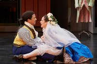 Aubrey Allicock (left) as Figaro and Monica Dewey as Susanna in Mozart's <i>The Marriage of Figaro</i>, performed at the Opera Theatre of St. Louis.(Eric Woolsey)
