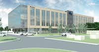 USAA just opened a four-story building in the Plano campus on Legacy Drive.(USAA)