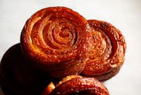 Kouign-amann made at Bisous Bisous Patisserie in Dallas(Vernon Bryant/Staff Photographer)