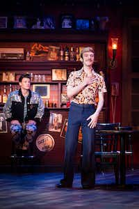 Will Carleton as Patrick (right) and Blake McIver  as Wes rehearse Uptown Players' production of <i>The View UpStairs.</i>(Smiley N. Pool/Staff Photographer)