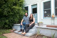 Liv Cannon lived with chronic pain and debilitating muscle weakness until she was 24, when Cole Chiumento, who is now her fiance, encouraged her to try once more to find a diagnosis. <br>(Julia Robinson/Kaiser Health News)