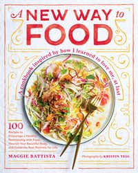 <i>A New Way to Food</i> book cover by Maggie Battista(Kristen Teig)