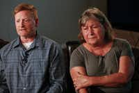 Paul Clyde and his ex-wife, Nubia Brede Solis, during an interview with <i>The Dallas Morning News</i> on Wednesday in Plano. Brian Clyde, 22, opened fire on the Earle Cabell Federal Building and was shot by officers and died in a downtown Dallas parking lot Monday.&nbsp;(Ryan Michalesko/Staff Photographer)