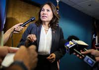 """Rep. Veronica Escobar, D-El Paso, said the immigration bill offered by Sen. John Cornyn and Rep. Henry Cuellar is """"not something I could ever support."""". (Ryan Michalesko/The Dallas Morning News)(Ryan Michalesko/Staff Photographer)"""
