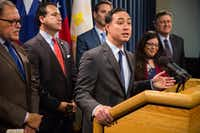 "<p>Rep. Joaquin Castro, D-San Antonio, said he has ""<span style=""font-size: 1em; background-color: transparent;"">deep concerns about fair process for asylum seekers in this piece of legislation."" Castro is chairman of the Congressional Hispanic Caucus.</span></p>(Daniel Carde/Special Contributor)"
