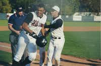 Rep. Colin Allred was gaining attention from baseball scouts after earning all-district honors his sophomore and junior seasons at Hillcrest High School. As he continued to grow, Allred eventually focused on football.(Courtesy of Rep. Colin Allred)