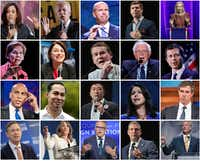 2020 Democratic Debate stage. (Getty Images/photo collage by TNS)(getty images/TNS)