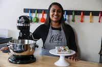 Ankita Patel bakes and decorates cookies for her home-based business, Little Black Kitchen Cart(Ryan Michalesko/Staff Photographer)