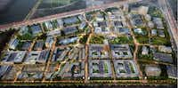 The Monarch City development in Allen is planned for more than 10 million square feet of construction.(Omniplan)