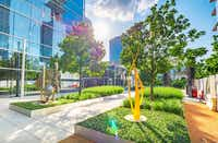 A sculpture garden is on the east side of the KPMG Plaza.(Cushman & Wakefield)