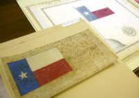 Two historic sketches by Charles B. Stewart and Peter Krag have been at the center of a debate over who was the original designer of the Texas flag.(File 2003/Taylor Jones)
