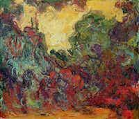 "Claude Monet (French, 1840-1926) ""The Artist's House Seen from the Rose Garden""(Muse Marmottan Monet/Kimbell Art Museum)"