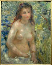 """Pierre-Auguste Renoir's """"<i>tudy: Torso, Effect of Sun</i>&nbsp;will be included in the an exhibition at the Kimbell Art Museum beginning this October.<br>(<br>/Erich Lessing)"""