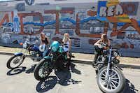 Motorcyclists convene in Reno's Midtown District, which offers a diverse jumble of independent retailers and services, including high-end and vintage clothing boutiques, record stores, wine bars, hipster taverns, poke bars and acai cafes.(VisitRenoTahoe.com/Courtesy)