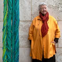 Artist Sheila Hicks' exhibition 'Secret Structures, Looming Presence' at the Dallas Museum of Art opens June 30, 2019. Photographed at the Nasher Sculpture Center in Dallas on May 5, 2019.(Nan Coulter/Special Contributor)