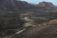The Rio Grande that marks the boundary between the United States (right) and Mexico is seen on Jan. 17, 2019, from Big Bend Ranch State Park.(Joe Raedle/Getty Images)