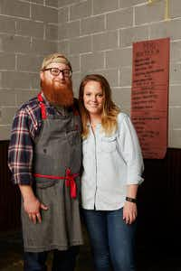 Travis and Emma Heim have grown their barbecue business from a humble trailer to two destination locations in Fort Worth in short order.(Jason Kindig)