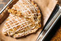 Hand pies are creating buzz at Heim Barbecue's two Fort Worth stores. Caramel apple is one of the varieties, along with strawberry-cream cheese.(Robert Strickland/Heim Barbecue)