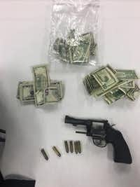 An image released by Grapevine police showing items recovered during the pursuit.<br>(Grapevine Police Department<br>)
