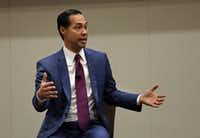 Democratic presidential candidate Julian Castro, speaking in Frisco on Monday, said he thinks he will do well on Super Tuesday, March 3. The former San Antonio mayor said not only can he win Texas, he also has a shot at taking California and Colorado as well.(Jason Janik/Special Contributor)