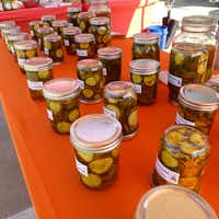 Sweet Life Baking Co. started as a cottage bakery, but it's the pickles  — garlic dills, sweet and spicy versions of bread-and-butters and firecracker sweets —  that have caught on with Frisco Rotary Farmers Market shoppers.(Kim Pierce)