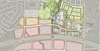 The Station development in Sachse is on both sides of the Bush Turnpike.(PMB Capital Investments)