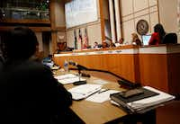 A Dallas County Commissioners Court meeting(Rose Baca/Staff Photographer)
