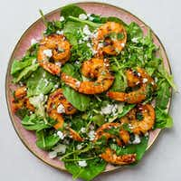 Harissa Shrimp Salad with Herbs and Goat Cheese(Rebecca White)