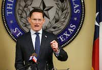 """<p><span style=""""font-size: 1em; background-color: transparent;"""">""""We need a criminal justice system that works for everyone, and one that does not discriminate on people based on poverty,"""" Dallas County Judge Clay Jenkins said.</span></p>(Vernon Bryant/Staff Photographer)"""