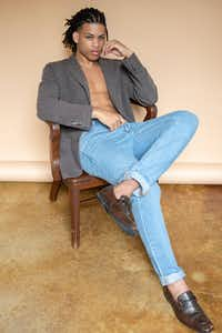 Kerion poses for a photo at his June photoshoot with Jones Model Management, the talent development agency that is teaching him the basics of modeling.(Adam Moroz/Jones Model Management)
