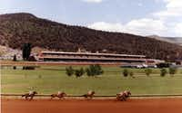 Ruidoso Downs offers live quarter horse and thoroughbred racing in a resort-town setting in southeastern New Mexico.  It was the site of failed drug tests on four racehorses in 2013 -- linked to a Weatherford pharmacy owned by Joe Landers, who has pleaded guilty to federal drug charges. (Ruidoso Downs/Mary Ellen Botter)