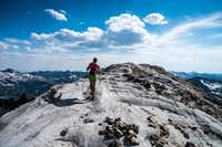 During her 60-mile hike to the lodge, the author visited the summit of the nearly 10,000-foot Matterhorn. Much of the Wallowa Mountains range, known as the Alps of Oregon, is in the Eagle Cap Wilderness. Most lodge guests opt for a shorter 8 1/2-mile hike to the lodge, while some fly in on small planes.(Dina Mishev/For The Washington Post)