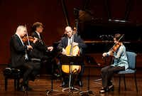 Stephen Rose (violin), John Novacek (piano), Brant Taylor (cello) and Joan DerHousepian (viola) perform Gustav Mahler's Piano Quartet in A Minor at the PepsiCo Recital Hall on the campus of Texas Christian University in Fort Worth, Texas on Friday, July 5, 2019.(Lawrence Jenkins/Special Contributor)