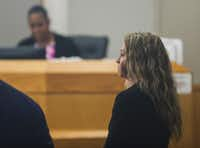 Former Dallas police Officer Amber Guyger made a court appearance at the Frank Crowley Courts Building in Dallas on June 6. Guyger is charged with murder in the Sept. 6 shooting death of Botham Jean in his own apartment. Her attorneys are asking the judge to move the trial out of Dallas.(Ryan Michalesko/Staff Photographer)