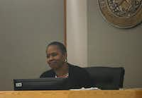Judge Tammy Kemp presided over the 204th Judicial District Court as former Dallas police Officer Amber Guyger (not pictured) made a court appearance at the Frank Crowley Courts Building in Dallas on June 6. Guyger is charged with murder in the Sept. 6 shooting death of Botham Jean in his own apartment. Guyger's attorneys filed a motion Monday asking Kemp to move the trial out of Dallas.(Ryan Michalesko/Staff Photographer)