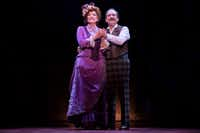 "Betty Buckley leads the national touring cast of <i>Hello, Dolly!</i> in the title role, a matchmaker eyeing her ""half-a-millionaire"" client (Lewis J. Stadlen) for herself.(Julieta Cervantes)"