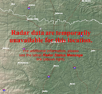 The doppler radar for the National Weather Service office in Fort Worth will be out of service this week for required maintenance.(National Weather Service)