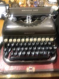 Ross Perot's typewriter that he bought secondhand when he was at the U.S. Naval Academy and used until his death. The man who pioneered the computer services industry never owned a PC.(Ross Perot family)