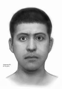 Grapevine police released a sketch of the suspect.