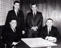 "<p><span style=""font-size: 1em; background-color: transparent;"">This 1960s photo shows the earliest members of the EDS team (from left): Tom Marquez, Tom Walter, Mitch Hart and Ross Perot.</span></p>(Electronic Data Systems)"