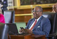 State Sen. Royce West as seen on the Senate floor just before Sine Die at the State Capitol of Texas on May 27, 2019 in Austin, Texas. (Thao Nguyen/Special Contributor)