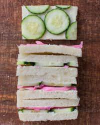 Cucumber and Pickled Onion Mascarpone Sandwich(Rebecca White)
